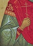 Detail of St. Panteleimon icon